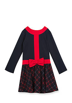 Rare Editions Knit Plaid Dress Girls 4-6x