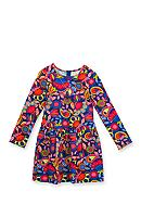 Rare Editions Floral Printed Knit Dress Girls 4-6x