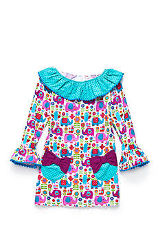 Rare Editions Elephant Ruffle Dress Girls 4-6x