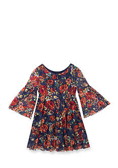 Rare Editions Floral Lace Dress Girls 4-6x
