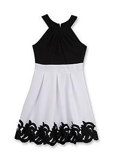 Tween Diva by Rare Editions Social Crepe Border Print Dress Girls 7-16