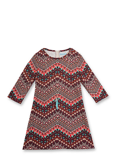 Rare Editions Tribal Print Dress Girls 7-16