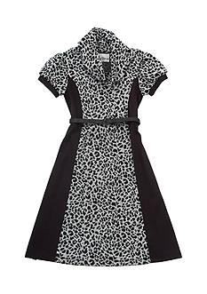 Rare Editions Animal Print Cowl Neck Dress Girls 7-16
