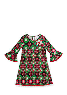 Rare Editions Holiday Floral Dress Girls 4-6x