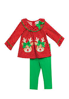 Rare Editions Reindeer Tunic And Legging Set Girls 4-6x