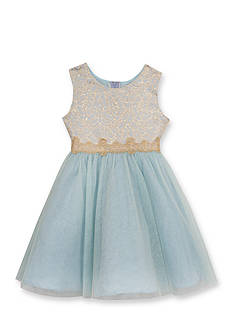 Rare Editions Glitter Social Dress Girls 4-6x