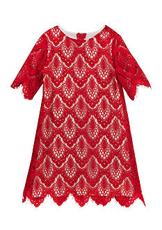 Rare Editions Lace Shift Dress Girls 4-6x