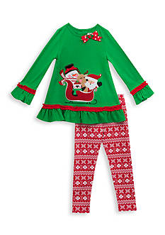Rare Editions Holiday Friends Tunic And Legging Set Girls 4-6x