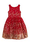 Rare Editions Sequin and Mesh Dress Girls 4-6x