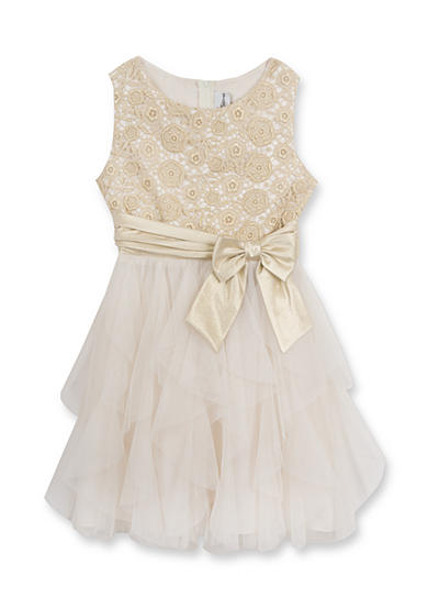 Rare Editions Cascade Lace Dress Girls 7-16