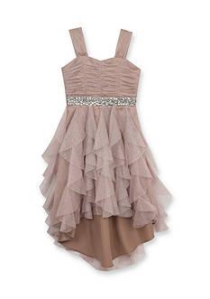 Rare Editions Social Rhinestone Dress Girls 7-16