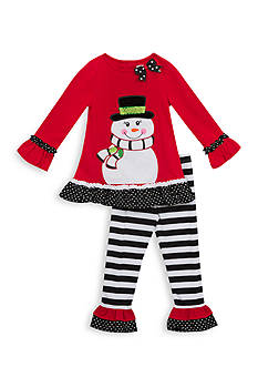 Rare Editions Girls 7-10 Snowman Top And Legging Set