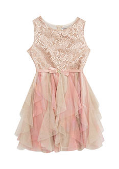 Rare Editions Sleeveless Cascade Dress Girls 7-16