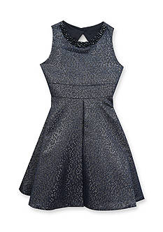 Rare Editions Girls 7-16 Beaded Neck Dress