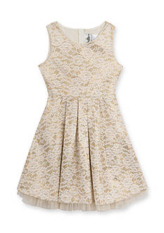Rare Editions Girls 7-16 Lace Sequin Dress