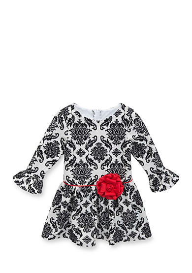 Rare Editions Girls 7-12 3/4 Printed Bell Sleeve Dress
