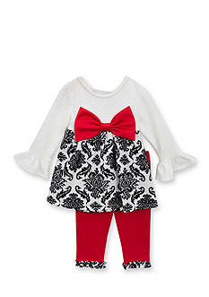 Rare Editions Knit Top and Leggings Set Girls 4-6x