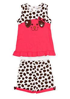 Rare Editions Puppy Knit Set Girls 4-6x