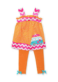 Rare Editions 2-Piece Dot Tunic and Legging Set Girls 4-6x