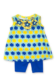 Rare Editions 2-Piece Geometric Top and Short Set Girls 4-6x
