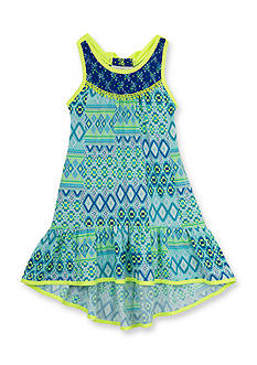 Rare Editions Tribal Print High Low Dress Girls 4-6x