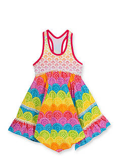 Rare Editions Rainbow Lace to Knit Dress Girls 4-6x