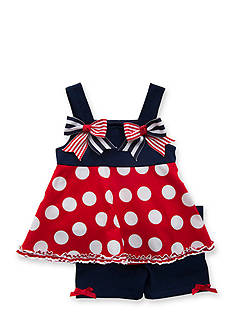 Rare Editions 2-Piece Polka Dot Top and Short Set Girls 4-6x