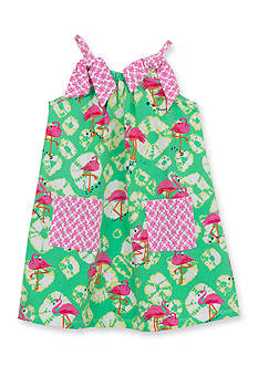 Counting Daisies by Rare Editions Flamingo Shift Dress Girls 4-6x
