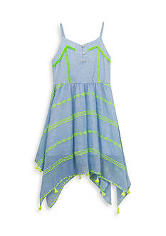 Rare Editions Neon Stripe Dress Girls 4-6x