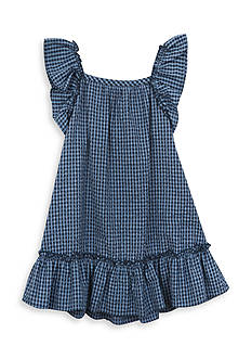 Rare Editions Checked Seersucker Dress Girls 4-6x