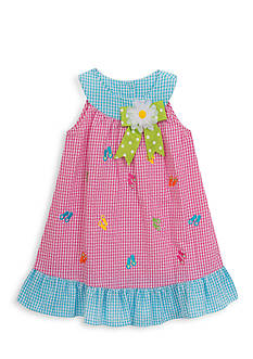 Rare Editions Flip Flop Seersucker Dress Girls 4-6x