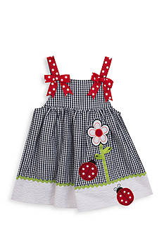 Rare Editions Ladybug Seersucker Dress Girls 4-6x