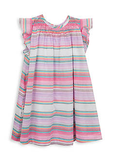 Rare Editions Stripe Woven Dress Girls 4-6x