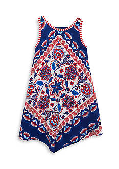 Rare Editions Bandana Print Dress Girls 4-6x