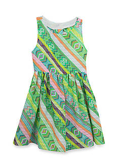 Rare Editions Multi Print Soft Dress Girls 4-6x
