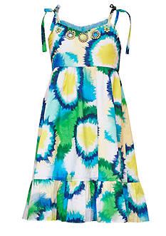 Rare Editions Tie Dye Dress with Jewel Neckline Girls 7-16