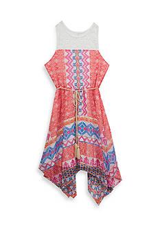 Rare Editions Multi Print Chiffon Dress Girls 7-16