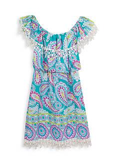 Rare Editions Paisley Printed Gauze Dress Girls 7-16