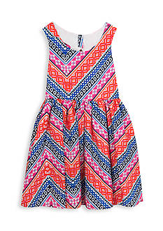 Rare Editions Multi Print Open Back Dress Girls 7-16