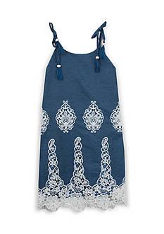 Rare Editions Lace Chambray Dress Girls 7-16