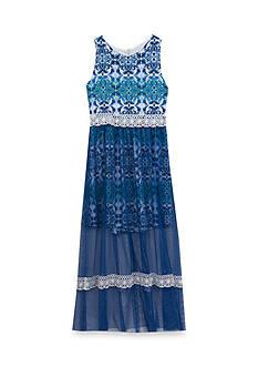 Rare Editions Medallion Maxi Dress Girls 7-16