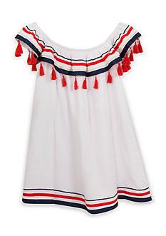 Rare Editions Tassel Gauze Dress Girls 7-16