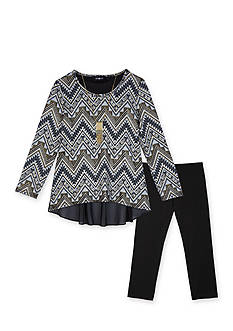 Amy Byer Girls 7-16 2-Piece Chiffon Print Top And Legging Set