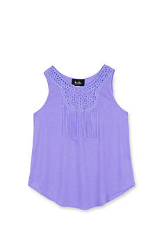 Amy Byer Crochet Fringe Tank Top Girls 7-16