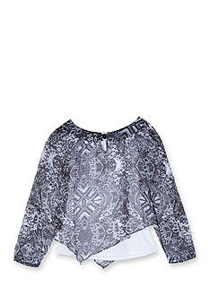 Amy Byer Girls 7-16 Chiffon Print Layered Top