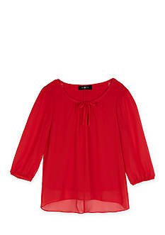 Amy Byer Girls 7-16 Chiffon Bow Blouse