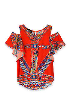 Amy Byer Cold Shoulder Top Girls 7-16