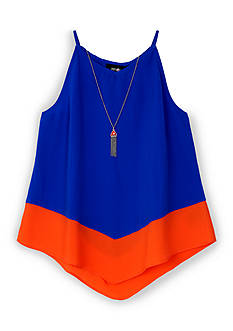 Amy Byer Colorblock Racer Tank Girls 7-16