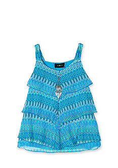 Amy Byer Tribal Crochet Tiered Necklace Tank Girls 7-16
