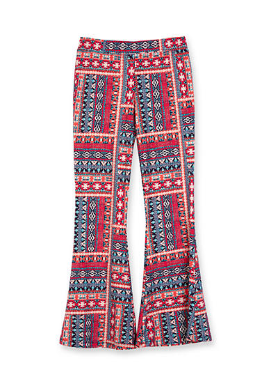 Amy Byer Aztec Print Flare Pant Girls 7-16